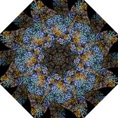 Multi Color Tile Twirl Octagon Folding Umbrellas