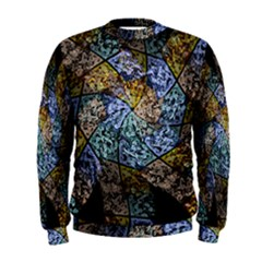Multi Color Tile Twirl Octagon Men s Sweatshirt