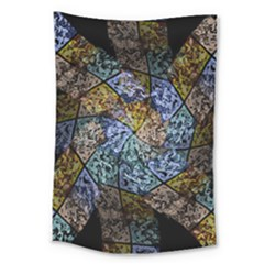 Multi Color Tile Twirl Octagon Large Tapestry
