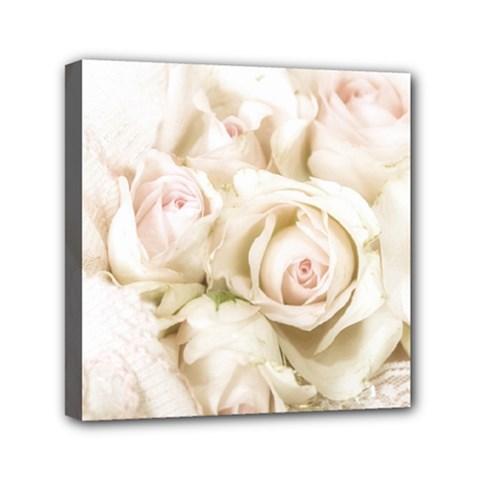 Pastel Roses Antique Vintage Mini Canvas 6  X 6