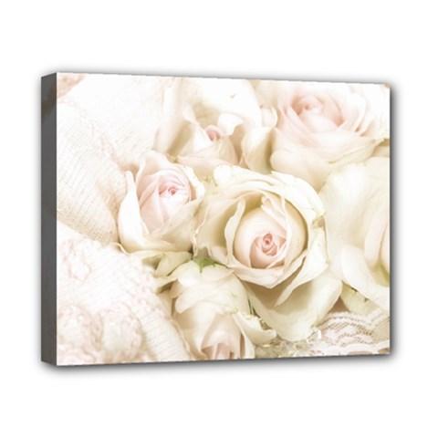 Pastel Roses Antique Vintage Canvas 10  X 8