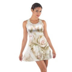 Pastel Roses Antique Vintage Cotton Racerback Dress