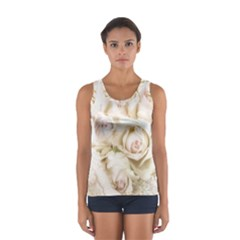 Pastel Roses Antique Vintage Sport Tank Top
