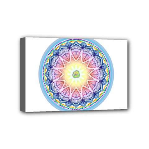 Mandala Universe Energy Om Mini Canvas 6  X 4