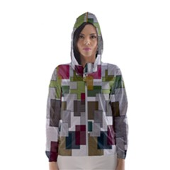 Decor Painting Design Texture Hooded Wind Breaker (women)