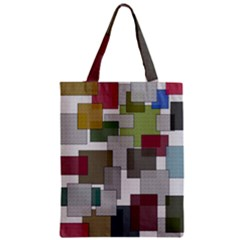 Decor Painting Design Texture Zipper Classic Tote Bag