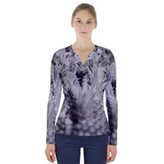 Pineapple Market Fruit Food Fresh V Neck Long Sleeve Top