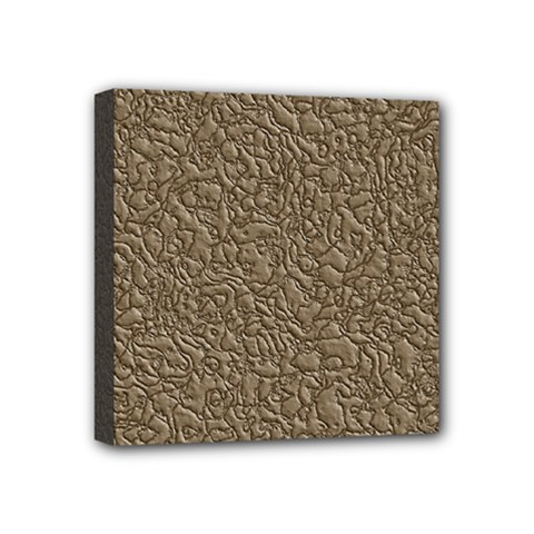 Leather Texture Brown Background Mini Canvas 4  X 4