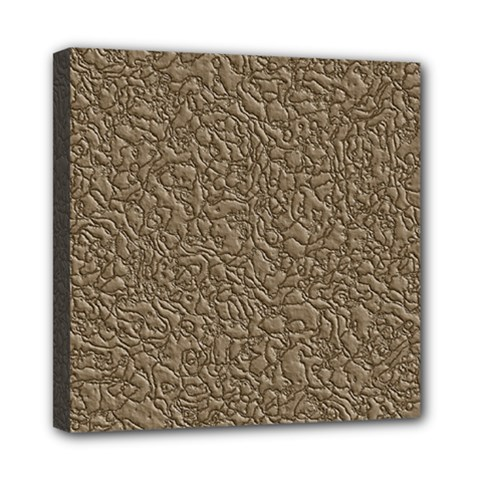 Leather Texture Brown Background Mini Canvas 8  X 8