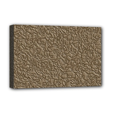 Leather Texture Brown Background Deluxe Canvas 18  X 12