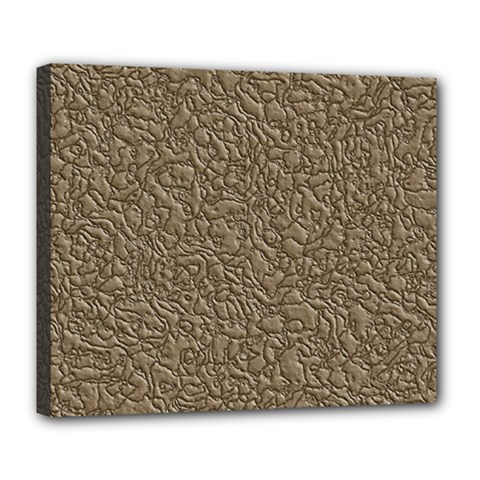 Leather Texture Brown Background Deluxe Canvas 24  X 20