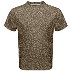 Leather Texture Brown Background Men s Cotton Tee