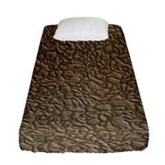 Leather Texture Brown Background Fitted Sheet (single Size)