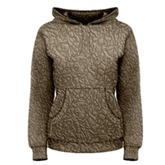 Leather Texture Brown Background Women s Pullover Hoodie