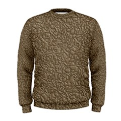 Leather Texture Brown Background Men s Sweatshirt