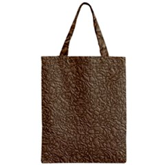 Leather Texture Brown Background Zipper Classic Tote Bag