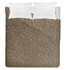 Leather Texture Brown Background Duvet Cover Double Side (queen Size)