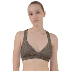 Leather Texture Brown Background Sweetheart Sports Bra