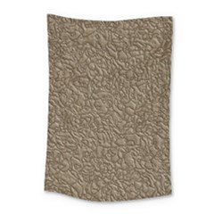 Leather Texture Brown Background Small Tapestry