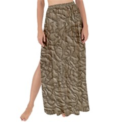 Leather Texture Brown Background Maxi Chiffon Tie Up Sarong