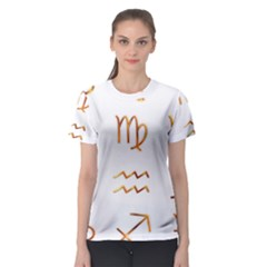 Signs Of The Zodiac Zodiac Aries Women s Sport Mesh Tee
