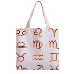 Signs Of The Zodiac Zodiac Aries Zipper Grocery Tote Bag