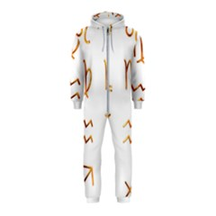 Signs Of The Zodiac Zodiac Aries Hooded Jumpsuit (kids)
