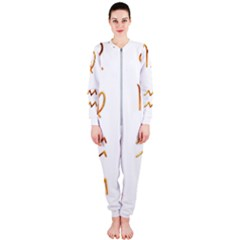 Signs Of The Zodiac Zodiac Aries Onepiece Jumpsuit (ladies)