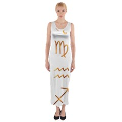 Signs Of The Zodiac Zodiac Aries Fitted Maxi Dress
