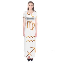 Signs Of The Zodiac Zodiac Aries Short Sleeve Maxi Dress