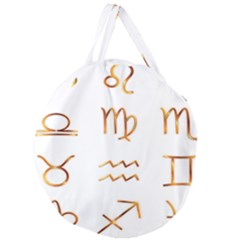 Signs Of The Zodiac Zodiac Aries Giant Round Zipper Tote