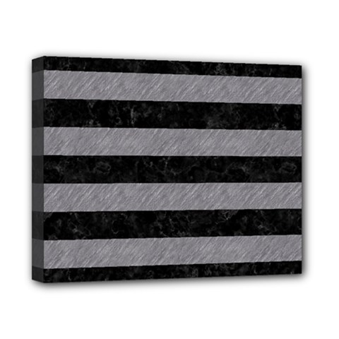 Stripes2 Black Marble & Gray Colored Pencil Canvas 10  X 8