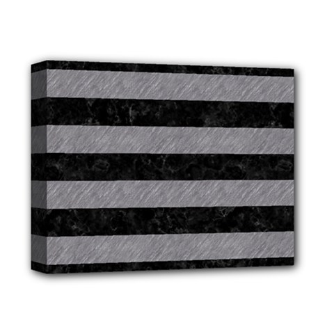 Stripes2 Black Marble & Gray Colored Pencil Deluxe Canvas 14  X 11