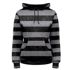 Stripes2 Black Marble & Gray Colored Pencil Women s Pullover Hoodie