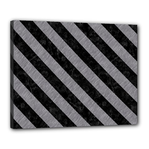 Stripes3 Black Marble & Gray Colored Pencil (r) Canvas 20  X 16