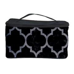 Tile1 Black Marble & Gray Colored Pencil Cosmetic Storage Case