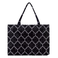 Tile1 Black Marble & Gray Colored Pencil Medium Tote Bag