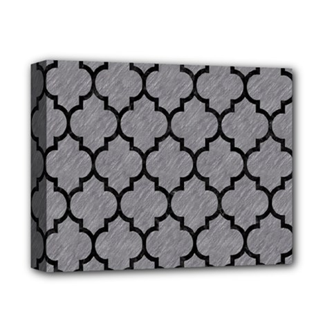 Tile1 Black Marble & Gray Colored Pencil (r) Deluxe Canvas 14  X 11