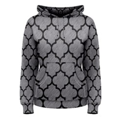 Tile1 Black Marble & Gray Colored Pencil (r) Women s Pullover Hoodie