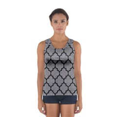 Tile1 Black Marble & Gray Colored Pencil (r) Sport Tank Top