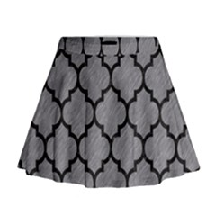 Tile1 Black Marble & Gray Colored Pencil (r) Mini Flare Skirt