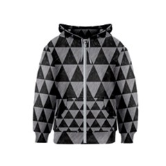 Triangle3 Black Marble & Gray Colored Pencil Kids  Zipper Hoodie