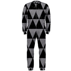 Triangle3 Black Marble & Gray Colored Pencil Onepiece Jumpsuit (men)