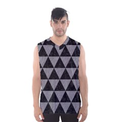 Triangle3 Black Marble & Gray Colored Pencil Men s Basketball Tank Top