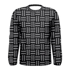 Woven1 Black Marble & Gray Colored Pencil Men s Long Sleeve Tee