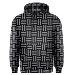 Woven1 Black Marble & Gray Colored Pencil Men s Pullover Hoodie