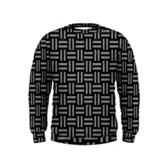 Woven1 Black Marble & Gray Colored Pencil Kids  Sweatshirt