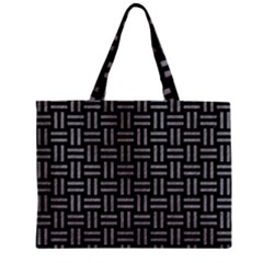 Woven1 Black Marble & Gray Colored Pencil Zipper Mini Tote Bag