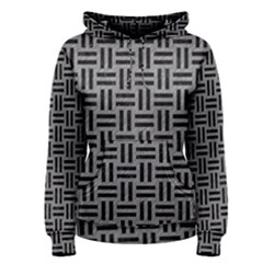 Woven1 Black Marble & Gray Colored Pencil (r) Women s Pullover Hoodie