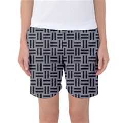 Woven1 Black Marble & Gray Colored Pencil (r) Women s Basketball Shorts